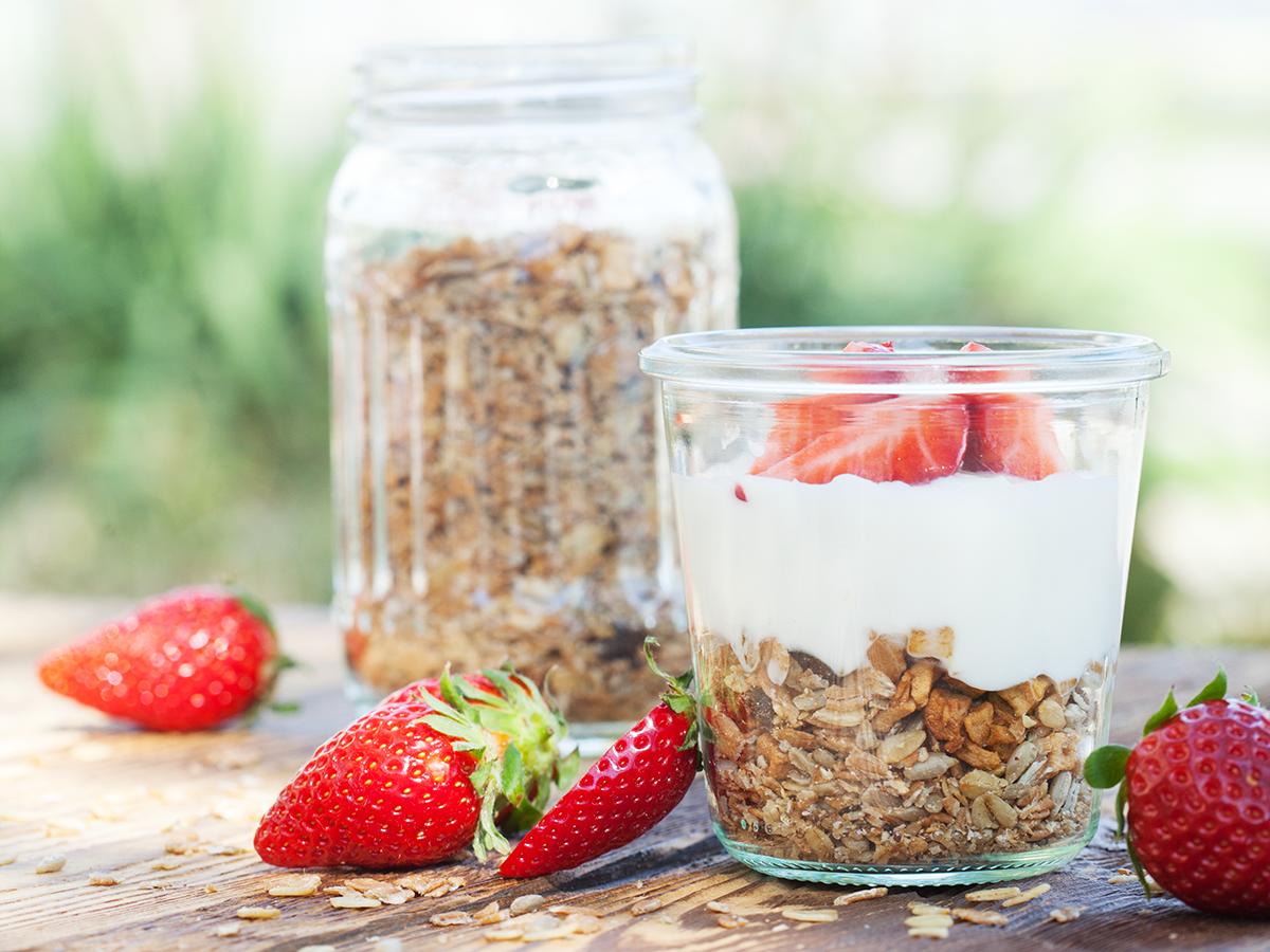 Muesli Müesli, Erdbeer mit Joghurt