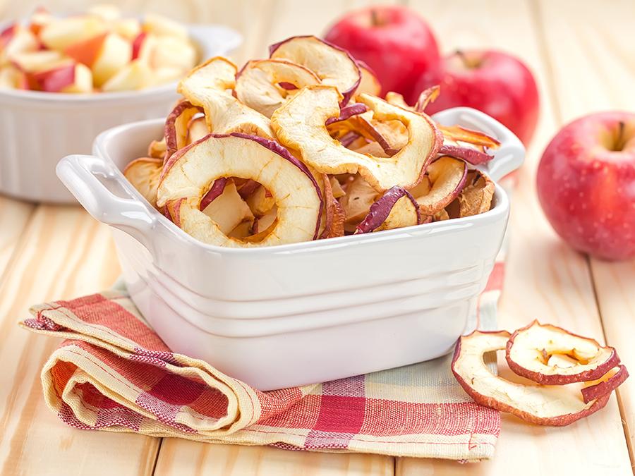 Dörrobst, Apfelringe, Getrocknete Früchte