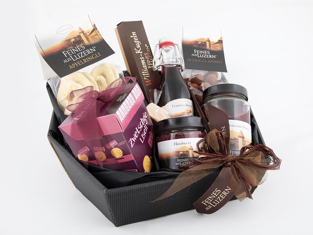 Geschenkkorb, Schachtel, Feines aus Luzern