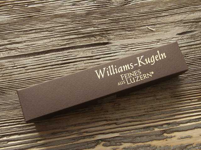 Williams-Kugeln Schachtel Verpackung